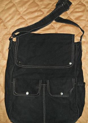 Черная хлопковая сумка