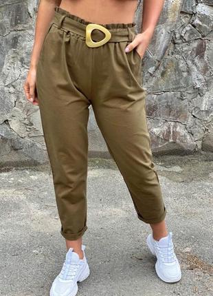 Актуальные женские штаны с поясом