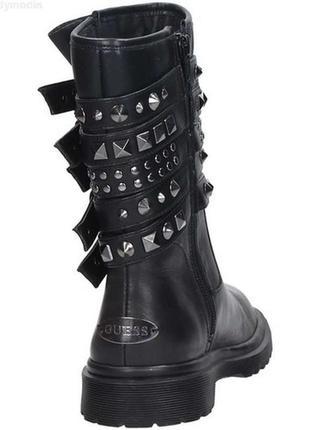 Оригинал,брендовые трендовые кожаные ботинки-сапоги guess