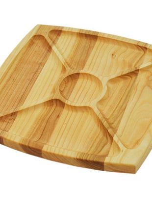 Деревянная тарелка, доска для подачи закусок и блюд