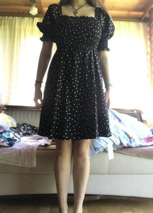 Платье винтаж в горошек