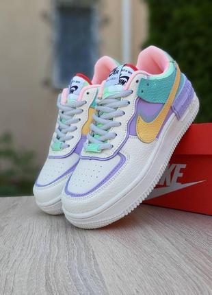Nike air force 1 shadow ivory  🆕 женские кроссовки найк 🆕 сиреневый/белый