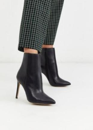 Новые женские ботильоны на среднем каблуке с острым носком h&m