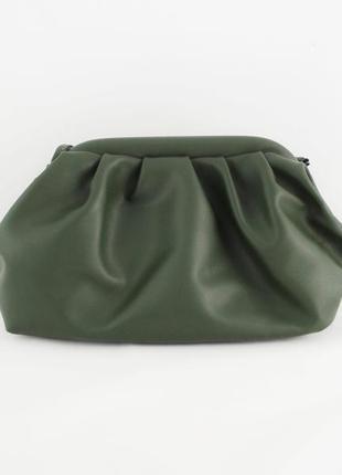 Сумка пельмень маленькая, женская сумочка облако, зеленая кроссбоди