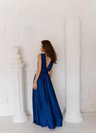 Вечернее шелковое платье