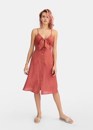 Летнее платье stradivarius