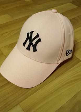 Стильная летняя кепка бейсболка 55-57 персик