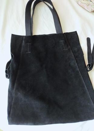 Натуральная замш,новая сумка,средних размеров,без изянов