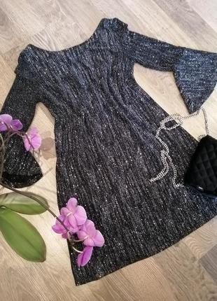 Шикарное блестящее платье сукня от f&f