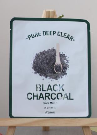 Тканевая маска с черным углем для очищения пор
