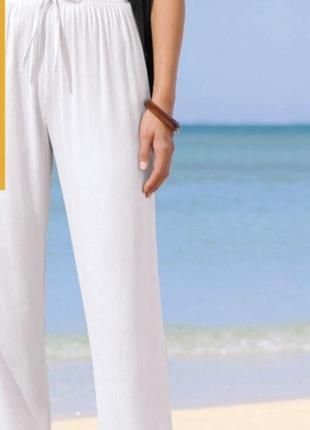 Легкие белые брюки батал!