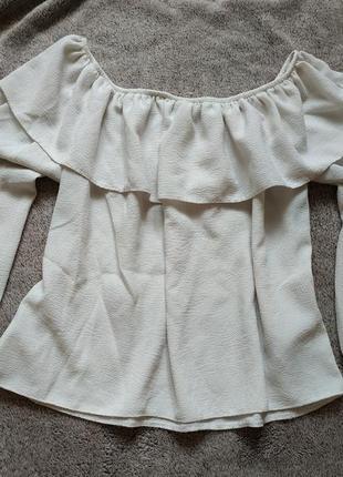 Блуза с воланами на плечи new look