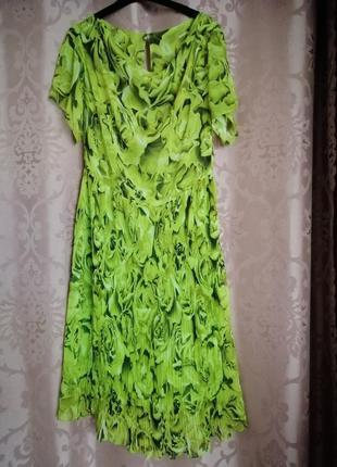 Шифоновое нарядное платье.