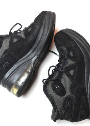Трековые высокие ботинки на шнуровке,кожа