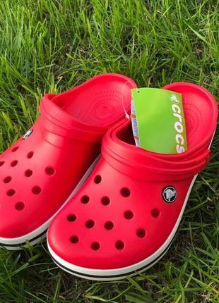 Кроксы crocs crocband сабо унисекс красные