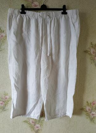 Укороченные женские штаны большого размера m&s