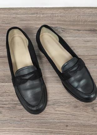 Фирменные кожаные туфли лоферы roberto santi