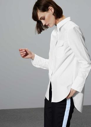 Белая оверсайз рубашка из 100% хлопка autogpah m&s