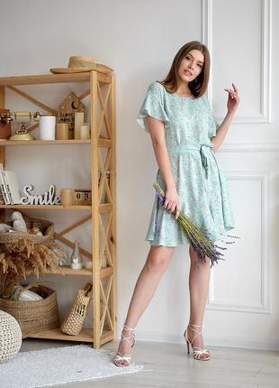 Легкое штапельное платье 42-52 р.