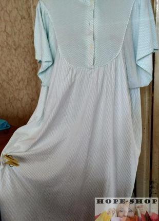 Домашнее полосатое платье , ночная рубашка ,сорочка 58/64
