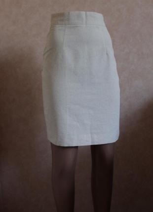 Идеальный летний вариант, юбочка из льна и хлопка