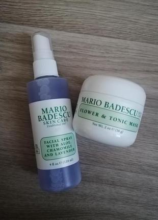 Mario badescu спрей мист для лица, волос лаванда 118мл+🌼 маска с глиной/каолином 56г