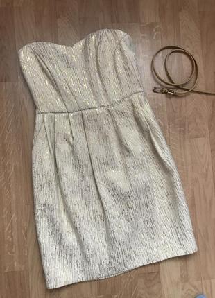 Платье мини, бюстье