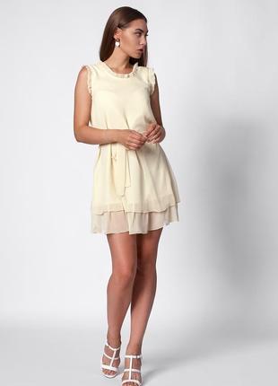 Шифоновое мини платье 42-48 р.