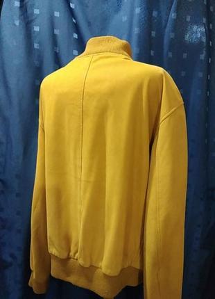 Мужская кожанная куртка - бомбер timberland (оригинал)2 фото