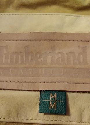 Мужская кожанная куртка - бомбер timberland (оригинал)3 фото