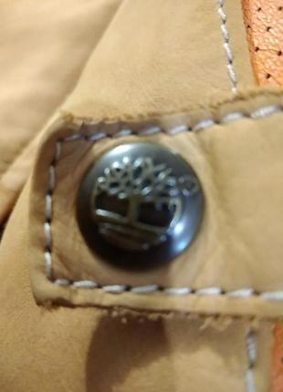 Мужская кожанная куртка - бомбер timberland (оригинал)7 фото