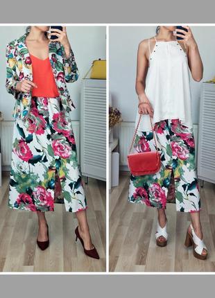 Шикарная летняя юбка в цветах
