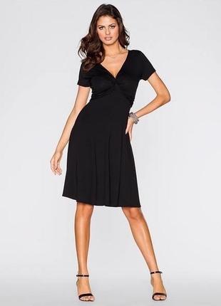 Трикотажное черное платье bovisoro/bodyflirt