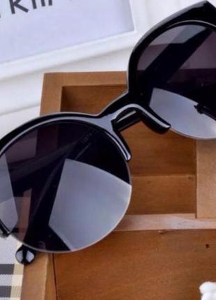 #розвантажуюсь солнцезащитные очки ретро кошки круглые черные