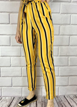 Новые брюки в полоску с высокой посадкой талии!