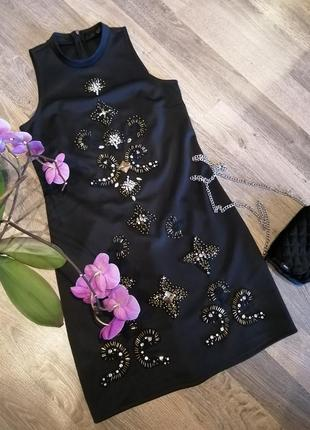 Шикарное платье сукня камни бисер орнамент от river island