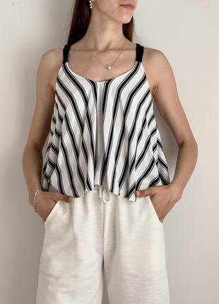 Топ блуза майка в полоску