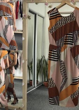Плаття в асиметричний принт