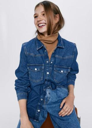 Новая джинсовая рубашка zara