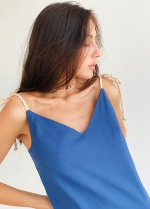 Льняное платье - комбинация