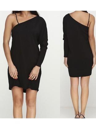 Новое чёрное платье с одним рукавом &other stories