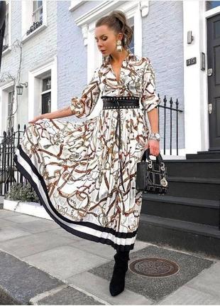 Шикарное платье плиссе в стиле gucci!