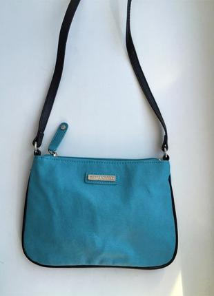 Стильная сумка mango кросс боди через плечо голубая в стиле zara guess cos
