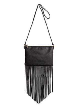 Стильная сумка h&m кросс-боди через плечо с бахромой hm, как zara mango guess cos