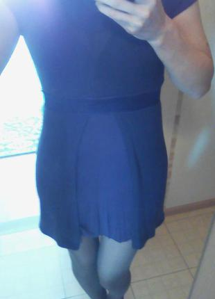 Молодёжное тёплое платье без рукавов