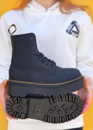 Dr. martens molly iridescent crackle platform boots / 🆕 женские ботинки мартинс 🆕 черные