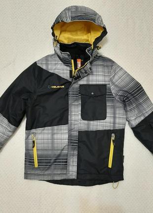 Теплая классная куртка celsius (норвегія) р. 152 водо- и ветрозащитная, на утеплителе