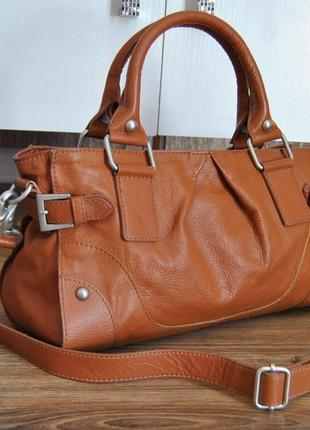 Кожаная сумка кроссбоди maddison / шкіряна сумка