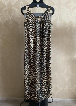 Крутое платье maxi в леопардовый принт