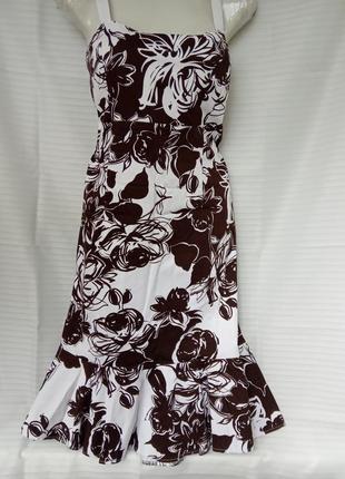 Красивое платье сарафан с принтом розы